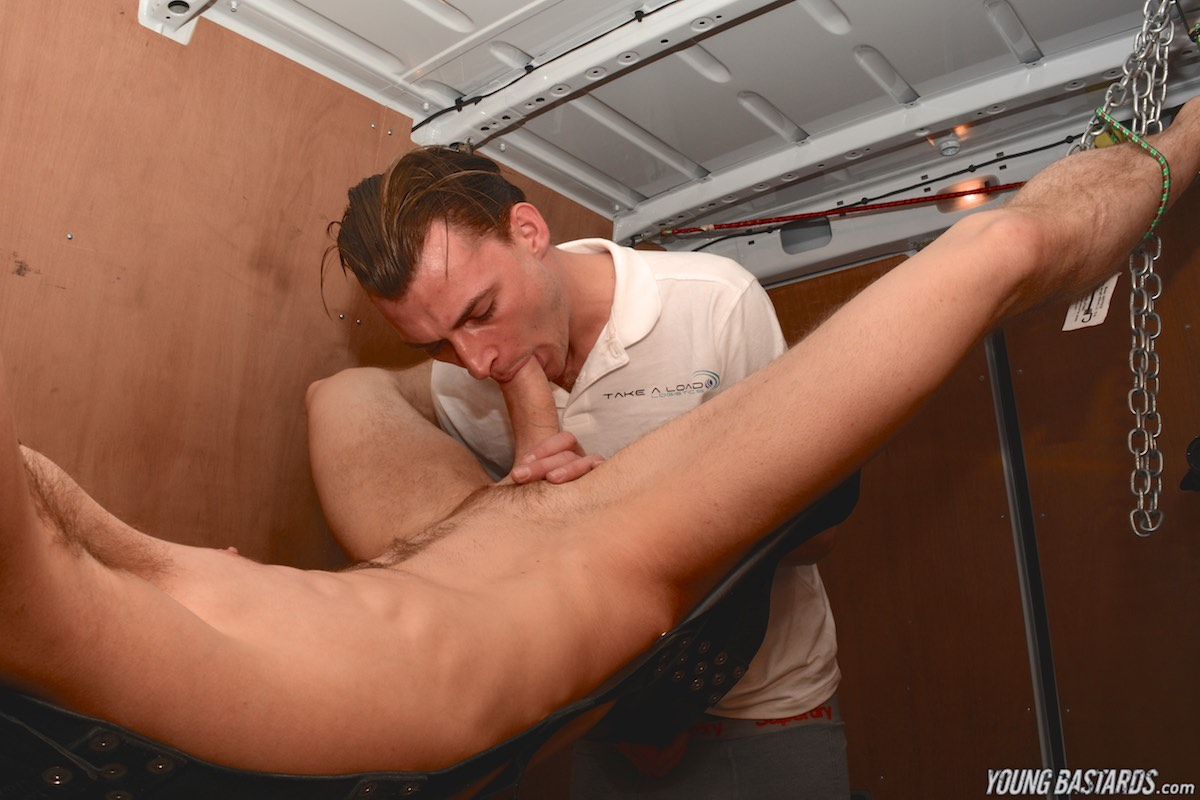 Young-Bastards-AJ-Alexander-and-Tony-Parker-Bound-Twink-Bareback-07 Bound Twink Gets Barebacked And Used In The Back Of A Van