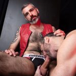 Hairy-and-Raw-Rex-Hunter-and-Dusty-Williams-Hairy-Leather-Daddy-Big-Uncut-Cock-Bareback-Video-09-150x150 Dusty Williams Begs For Daddy Rex Hunter's Big Uncut Cock To Breed His Ass
