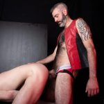 Hairy-and-Raw-Rex-Hunter-and-Dusty-Williams-Hairy-Leather-Daddy-Big-Uncut-Cock-Bareback-Video-17-150x150 Dusty Williams Begs For Daddy Rex Hunter's Big Uncut Cock To Breed His Ass