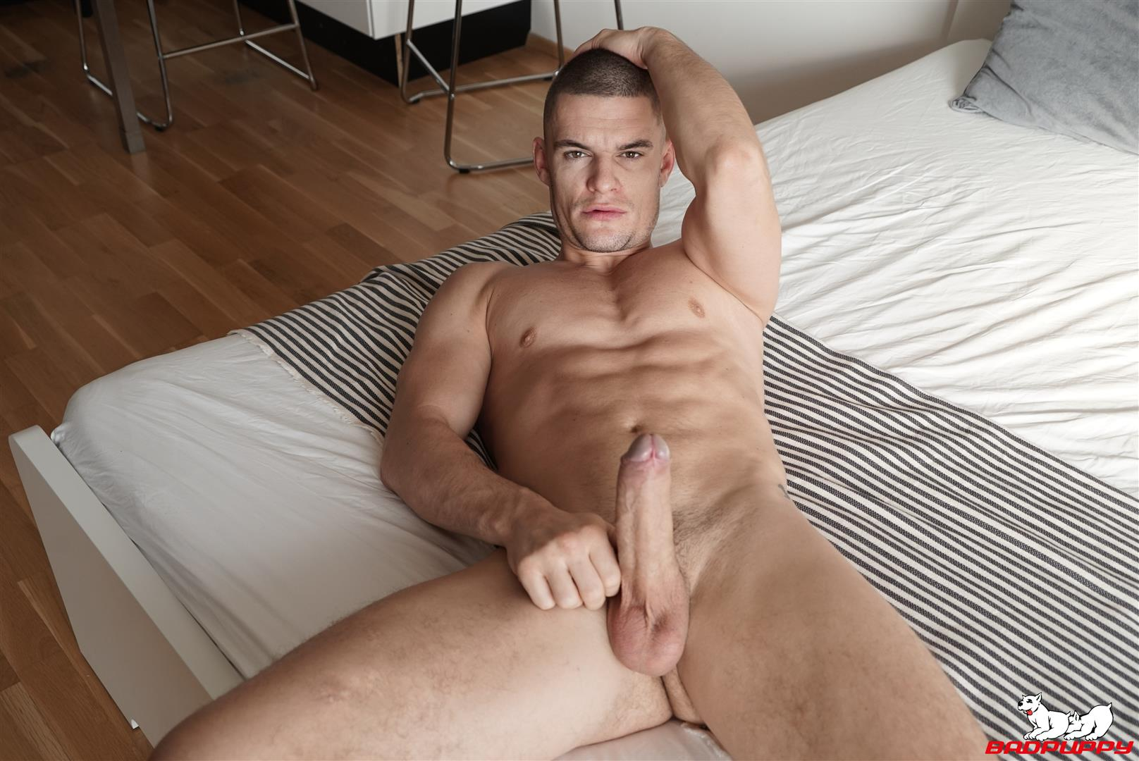 Badpuppy-Max-Dior-Big-Uncut-Cock-Jerkoff-Video-10 Waking Up From A Nap And Jerking Off My Big Uncut Cock