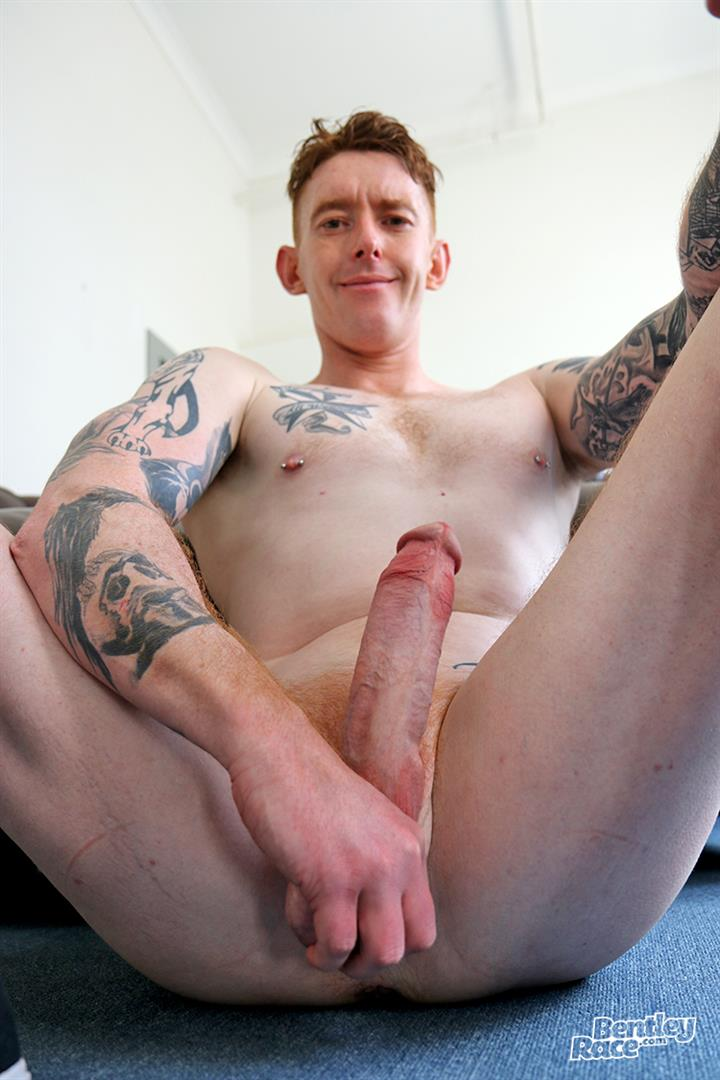 Bentley-Race-Perry-Jameson-Rehead-Aussie-With-A-Big-Uncut-Cock-09 Hung Tatted Up Ginger Gets His Big Uncut Cock Sucked