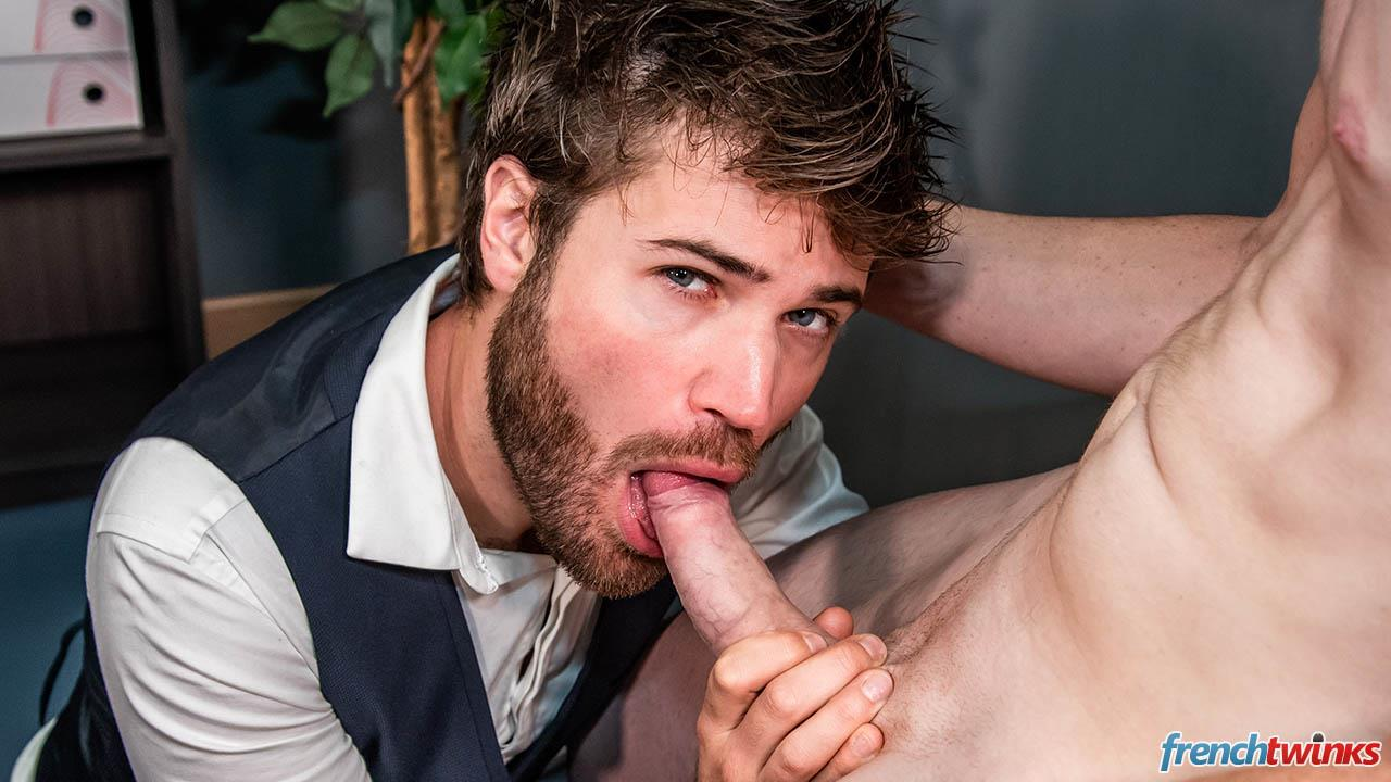 French-Twinks-Lucas-Bouvier-and-Doryann-Marguet-Big-Uncut-Cocks-Free-Download-13 French Twink Fucks An Older Hairy Man With His Big Uncut Cock