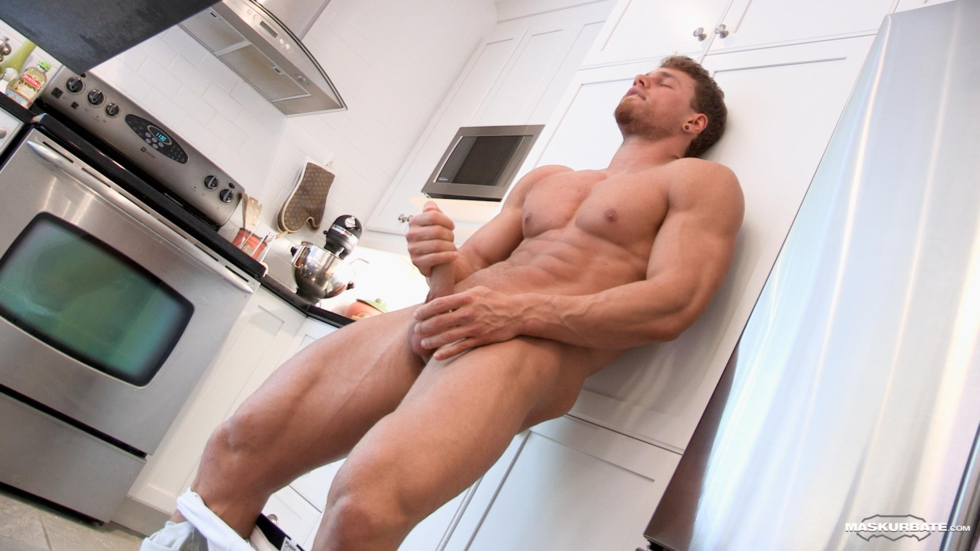 Maskurbate-Muscular-Guy-With-A-Big-Uncut-Cock-Jerking-Off-08 Jerking Off My Big Uncut Cock Into My Friends Wine Glass On New Years Eve
