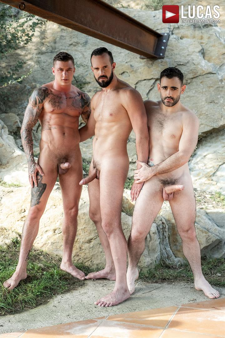 Lucas-Andy-Onassis-and-Geordie-Jackson-and-Max-Arion-Huge-Uncut-Cocks-Bareback-03 Bareback Outdoor Threesome Featuring Three Huge Uncut Cocks